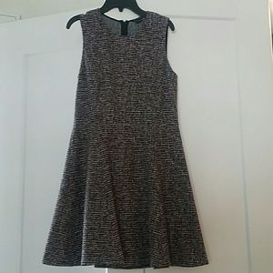 Theory tweed fit and flare dress
